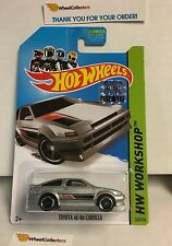 Toyota AE-86 Corolla #222 * SILVER * 2014 Hot Wheels Factory Set * A17