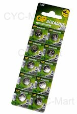 GP LR44 AG13 A76 Batteries 10 pcs Original Packing FREE POST Worldwide NEW 2019