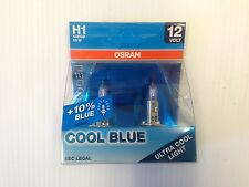 Pair x H1 OSRAM COOL BLUE +10% Blue H1 12v 55w halogen headlamp bulb, spotlamp