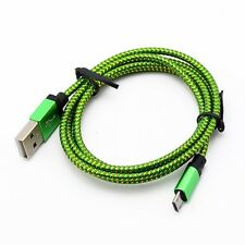 Universal 3M/10F Micro USB A to USB 2.0 B Braided Fast Data Sync Charger Cable