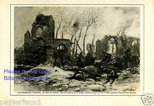 Kirche von Bixschoote XL Kunstdruck 1916 Langemark Peolkapelle Mattschaß Ypern
