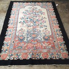 "Antique Art Deco Chinese Rug Size 5'3"" x 7'10"" Color Irresistible, Circa 1920s"