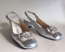 Starlight Room Silver 1960s Vintage Shoes Party Evening UK 6.5 US 8.5b EU 39.5