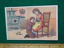 1870s-80s Garlan Stoves & Ranges Girl Sitting in Chair Victorian Trade Card F36