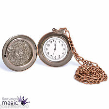 Reloj de Bolsillo 1920s Victoriano Steampunk Bronce Fancy Dress Costume falso Accesorio