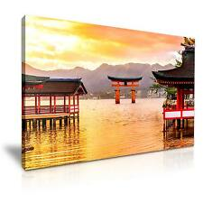 Miyajima Floating Torii Gate Japan Canvas Wall Art Picture 76x50cm
