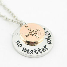 No Matter Where Necklace - Long Distance Relationship Gift - Pendant - Miss you