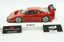 1/18 BBR FERRARI F40 LM COLOR RED SET ON WHITE DELUXE LEATHER BASE 15 PCS MR