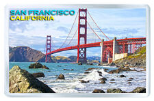 SAN FRANCISCO CALIFORNIA GOLDEN GATE FRIDGE MAGNET SOUVENIR IMAN NEVERA