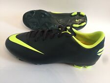 Nike Jr Mercurial Victory Youth Soccer Cleats Shoes Black Neon Yellow Sz 4 NEW!
