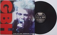 GBH - Live In Los Angeles 1988 LP Exploited Anti-Past Varukers Chaotic Dischord