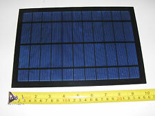 WOW! High power mini solar panel portable cell phone charger   5.5V x 1100 Ma.