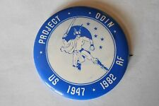 Vintage US Air Force USAF Project Odin 1947-1982 Pinback Button