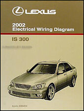 2002 Lexus IS 300 Wiring Diagram Manual Original IS300 Electrical Schematic OEM