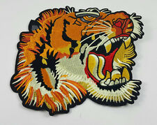Tiger Pop-up Wearing Patches Vintage  Embroidered Leather Jacket Sew on patch