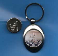 Knights Templar Trolley Coin Keyring Crusader