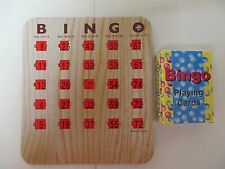 10 New Bingo Shutter Slide Cards with a deck of Bingo Playing Cards
