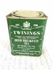 Vintage Twinings Irish Breakfast Tea Tin-4 Oz-Advertising 113g