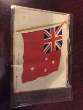 Lovely Bdv Cigarette Silk Picture -  Ww1 Allies - New Zealand Merchant Flag