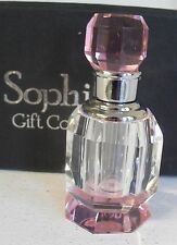 Crystal PERFUME BOTTLE pink & clear BNIB