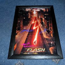 "THE FLASH PP SIGNED FRAMED A4 12""X8"" PHOTO POSTER GRANT GUSTIN CANDICE PATTON"