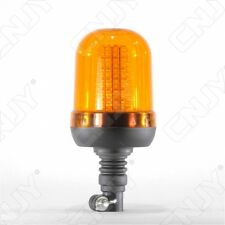 GYROPHARE 120 LED ORANGE-FLEXIBLE-MODE ROTATIF & FLASH-12V DC-FIXATION SUR MAT