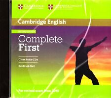 Cambridge COMPLETE FIRST (FCE) 2nd Edit CLASS AUDIO CD's for Exam from 2015 @NEW