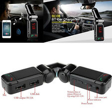 Bluetooth Car Kit MP3 Player FM Transmitter Modulator SD Dual USB Remote Charger