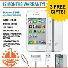 Apple iPhone 4S 8GB blanc factory unlocked smartphone-ajouter gratuitement sim!