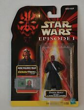 "1998 STAR WARS THE POWER OF THE FORCE ""DARTH MAUL"" COMM TECH ACTION FIGURE MOC"