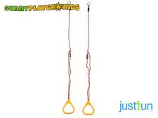 TRIANGULAR GYM RINGS YELLOW  For Kids Swing Seat Set Playground Accessories