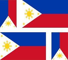 4x PHILIPPINES  flag decals sticker bike scooter car vinyl luggage helmet
