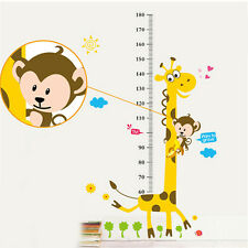 Kids Height Growth Chart Cartoon Giraffe Wall PVC Sticker Tool Decor 50*70cm