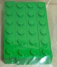 Nr.8432 Lego 3009 City 4 Steine 1x6  mittelgrün  -  bright green