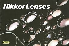 Nikon Nikkor Lenses Vintage Brochure, Nippon Kogaku Printed in Japan 28 pages