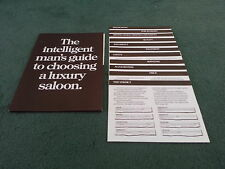1979 1980 AUDI 100 FACTS BROCHURE BMW 520 CITROEN CX FORD GRANADA 2.8 VOLVO 244