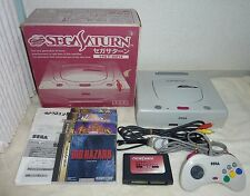 SEGA Saturn Console System Boxed HST-0014 NTSC-J + Expansion RAM + 4 Games Japan
