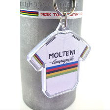 Merckx 1975 Molteni Campagnolo World Champion Cycling Jersey Keyring Tour France
