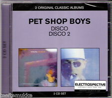 2 CD NEU OVP Pet Shop Boys Disco 1 + 2 ELECTROSPECTIVE Stickered Last Parlophone