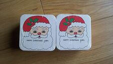 100 new beer mats/coasters with Father Christmas design