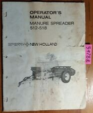 New Holland 512 518 Manure Spreader Owner's Operator's Manual 42051223 2/75