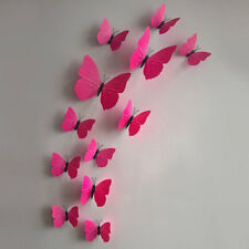 Xmas 12PCS 3D Butterfly Wall Stickers Decal Art Design Home Kids Room Decoration