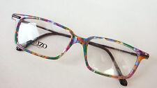 Unisex Brillen Gestell Kunststoff Fassung bunt fetzig eckig gerade Form frame L