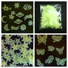 Glow in the dark planets butterflies stars bedroom ceiling wall kids nursery