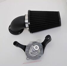 BLACK SCREAMING EAGLE STYLE AIR CLEANER FILTER KIT S&S CARBURETORS HARLEY MOTORS