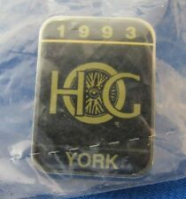 Licensed Harley Davidson 1993 HOG YORK Event Pin ~ New in Package ~ Clear Coat