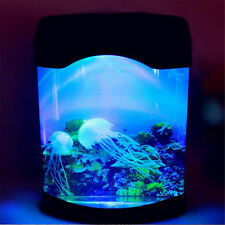 Colorful LED Jellyfish Tank Sea World Swimming Mood Multi-Color Lamp Night Light