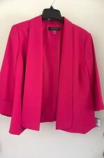 Kasper Womens Watermelon  Cuffed Open-Front Blazer Jacket 16 NWT