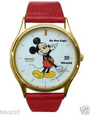 BRAND NEW Mens Disney Mickey Mouse SEIKO Date Watch HTF