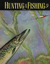 Muskie Fishing Vintage Magazine Poster Art  Musky Lures  MAG13